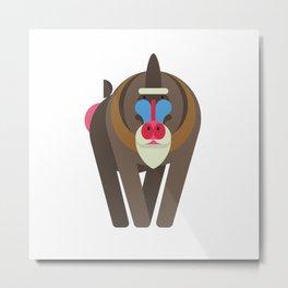 Minimalistic wildlife 05 –Mandrill Metal Print