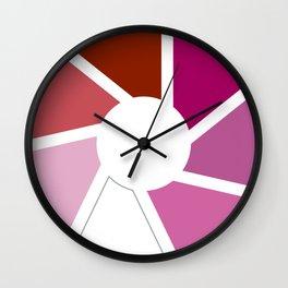 Lesbian Pride Flag Circle Wall Clock