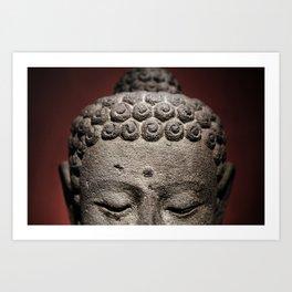 Red Meditation Art Print
