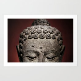 Red Meditation Art Print