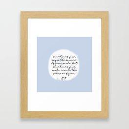 Half Smile Framed Art Print