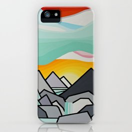 Glacier waterfall iPhone Case