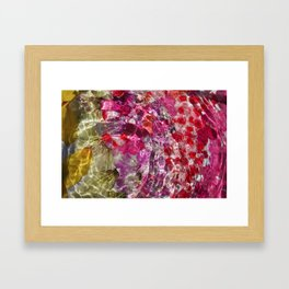 Rippled petals Framed Art Print
