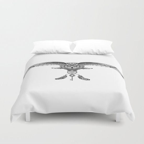 The owl is dreaming Duvet Cover