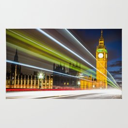 Lights on Westminster Bridge Rug