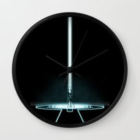 tron Wall Clocks featuring TRON PORTAL by The ED13