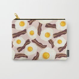 Bacon and Eggs Pink Carry-All Pouch
