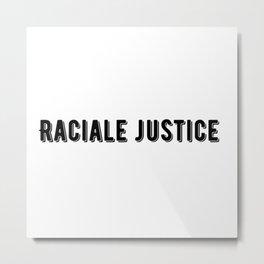 Raciale justice Metal Print