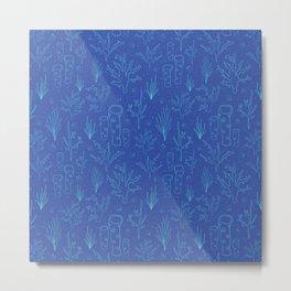 Blue underwater design Metal Print