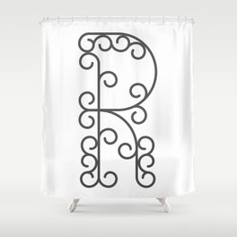 """Letter """"R"""" in beautiful design Fashion Modern Style Shower Curtain"""