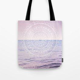 Blissful Ocean Dream Mandala #1 #pastel #wall #decor #art #society6 Tote Bag