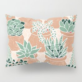 Succulent's Tiny Pots Pillow Sham