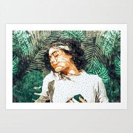 Rest #painting #tropical Art Print