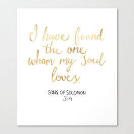 Song of Solomon 3:4 - Customer Request Canvas Print