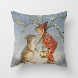 """The Bracken Fairy"" by Margaret Tarrant Throw Pillow"