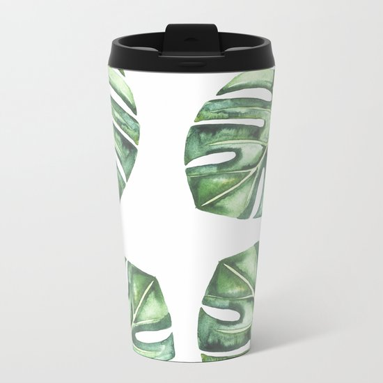Monstera #society6 Metal Travel Mug