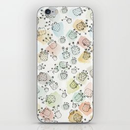 Vintage polka dot cups and flowers iPhone Skin
