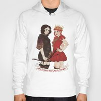 arya Hoodies featuring A Queen & her Knight by Noble Demons