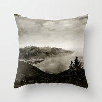 switzerland Throw Pillows featuring Vintage Switzerland by breezy baldwin