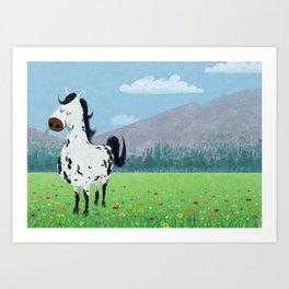 Spotty Horse Art Print