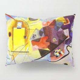 Wassily Kandinsky Yellow Red Blue Pillow Sham
