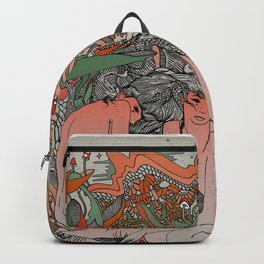 Two Sisters II: Bird of Paradise & Blood Orange Backpack