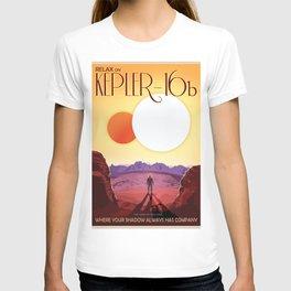 NASA Retro Space Travel Poster #8 Kepler 16b T-shirt