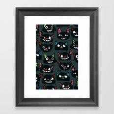 Goofy Monsters Framed Art Print
