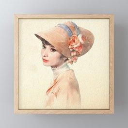 Audrey Hepburn - Eliza Doolittle - Watercolor Framed Mini Art Print