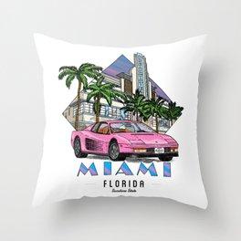 Miami, bedrock of diversity! Throw Pillow
