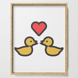 Kissing Ducks Super Cute Valentines Day Love Gift Idea Design Serving Tray