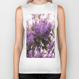Purple lilacs Biker Tank