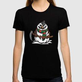 Creepy Comic Snowman T-shirt