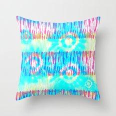 Headed to Woodstock - Hippie Tie Dye Pattern Throw Pillow