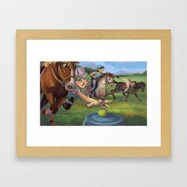 Mounted Games Framed Art Print