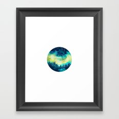Aurora Borealis Circle Framed Art Print