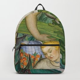 Calla Lily Picker California Flower Harvest floral portrait painting   Backpack