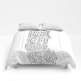 New York City Neighborhoods Comforters