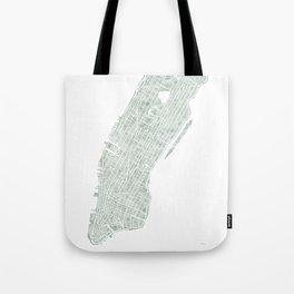 Map Manhattan NYC watercolor map Tote Bag