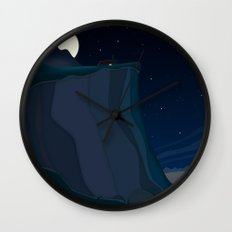 fairy landscape (at night) Wall Clock
