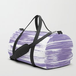 Modern abstract lilac lavender white watercolor brushstrokes Duffle Bag