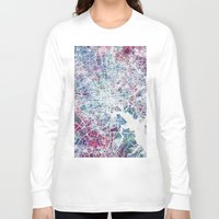baltimore Long Sleeve T-shirts featuring Baltimore by MapMapMaps.Watercolors