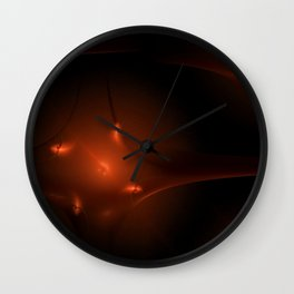 Seamless Background Fractal Wall Clock