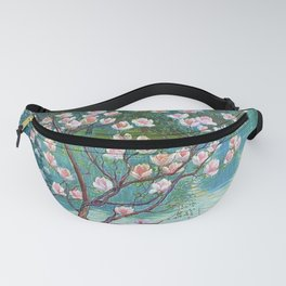 Springtime Pink Magnolias by the Kettle Pond landscape by Wilhelm List Fanny Pack