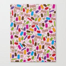 Ice Cream Doodles Canvas Print