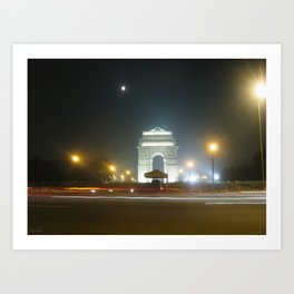 Rush Hour - India Gate Art Print
