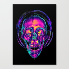 Trippy Skull Canvas Print