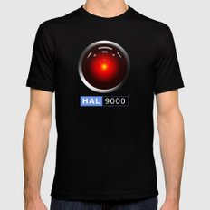 HAL 9000 Mens Fitted Tee MEDIUM Black