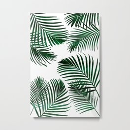 Tropical Palm Leaf Metal Print