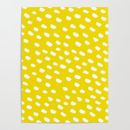 Brush Dot Pattern Yellow Poster
